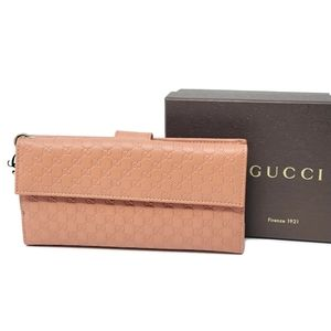 💯 Auth Gucci Brown Guccissima Long Wallet